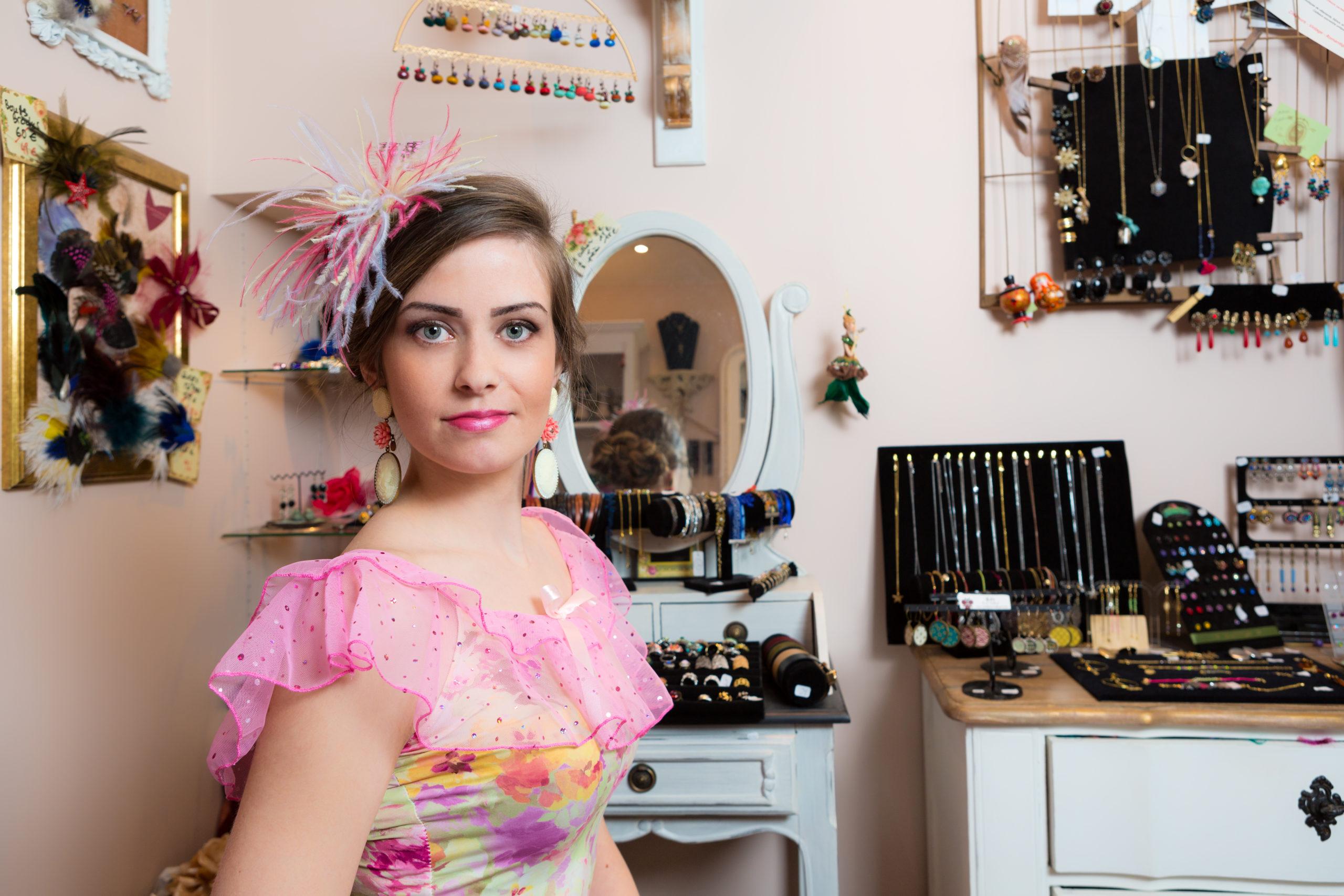 vêtement fait main made in france princesse rose baroque victorien pastel été