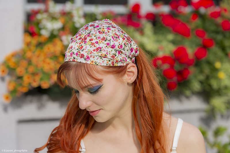 headband bandeau femme accessoire cheveux a fleurs made in france piece unique fait main