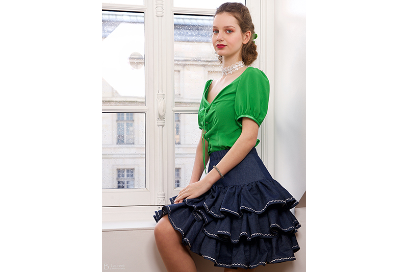 chemisier-vert-made-in-france-haute-couture-second-empire-manches-ballon
