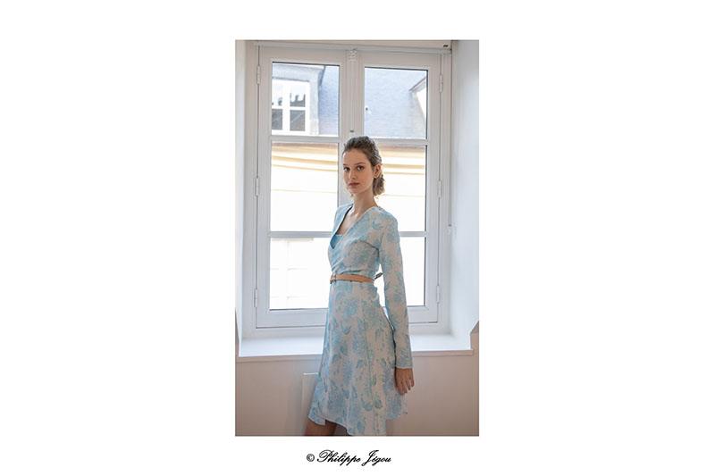 robe-portefeuille-brocart-bleu-turquoise-made-in-france-pret-a-porter-femme