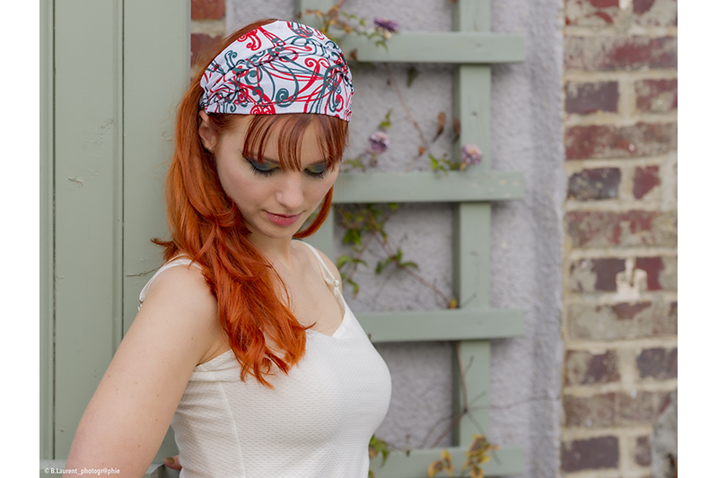 accessoire cheveux mode bandeau headband retro vintage made in france fait main
