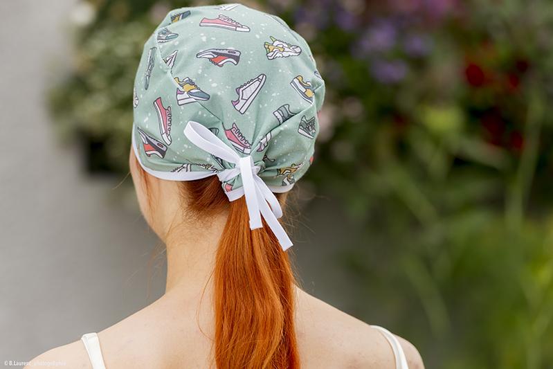 calot coiffe soignant coton imprime bio baskets bloc opératoire infirmier aide chirurgien dentiste pedicure hygiene sante