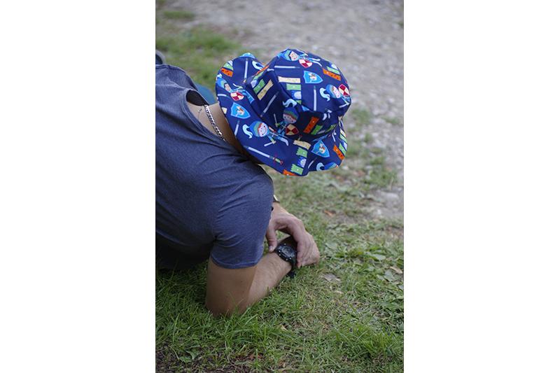 chapeau de soleil homme imprime chevalier fait main made in france qualite