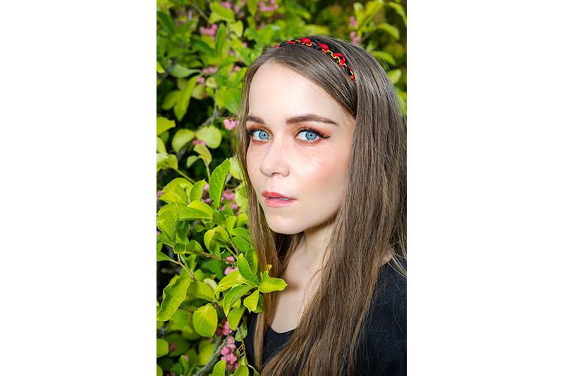 headband fait main accessoire coiffure serre tete cheveux mode tendance femme diademe harley quinn made in france