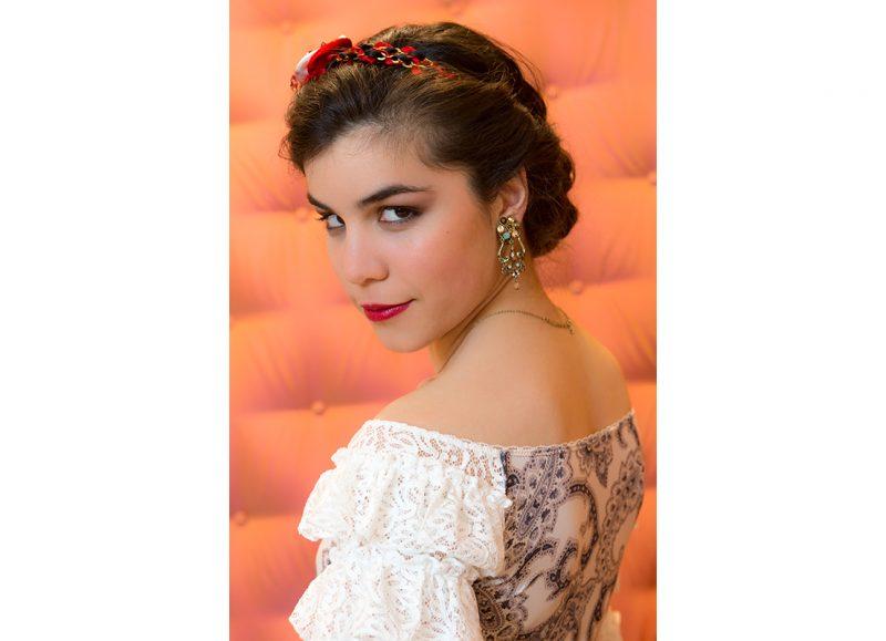 headband made in france fait main rouge noir accessoire cheveux serre tete diademe