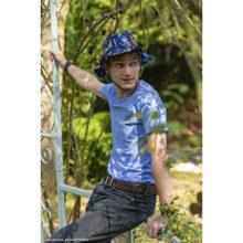 tee-shirt t-shirt pour homme bleu made in france