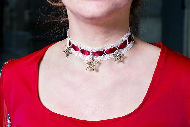 collier dentelle choker made in france bijou bordeaux etoiles