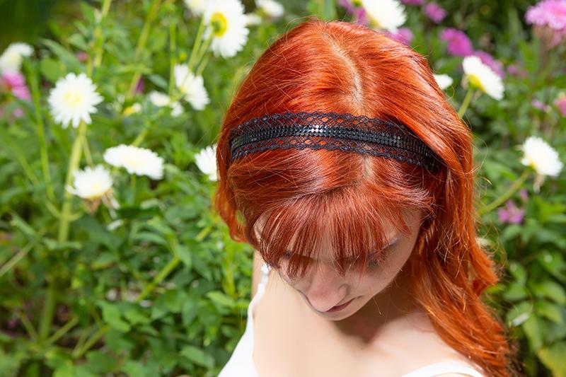 accessoire cheveux bijou de tete headband strass noir dentelle made in france chic elegant
