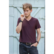 tee-shirt t-shirt marron pour homme made in france