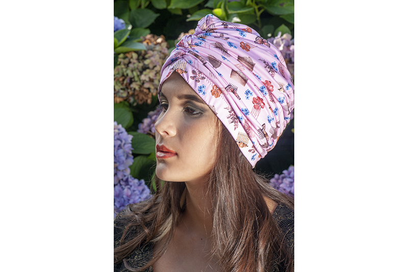 turban chimio alopecie cancer made in france rose perte de cheveux
