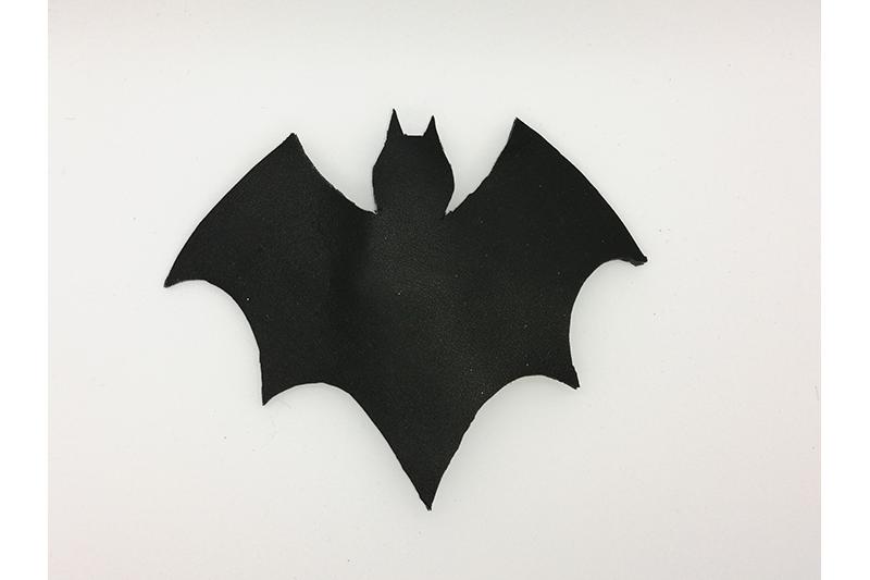 accessoire cheveux barrette halloween chauve-souris batgirl batman made in france
