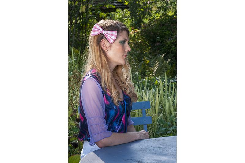 accessoire cheveux noeud vichy rose carreaux made in france barrette bijou de tete fait main handmade