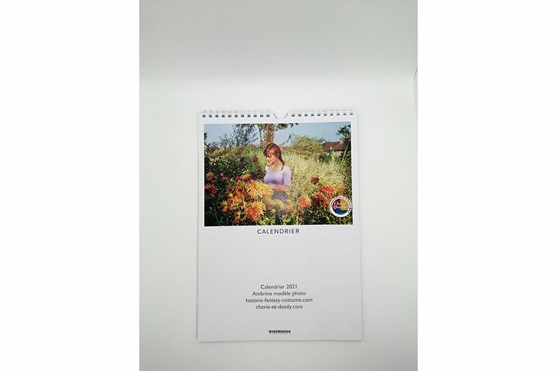 calendrier 2021 ambrine modèle photo