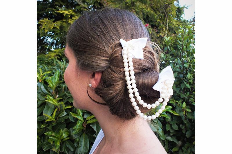 accessoire cheveux mariee chignon mariage fait main made in france artisanal bijou de tete