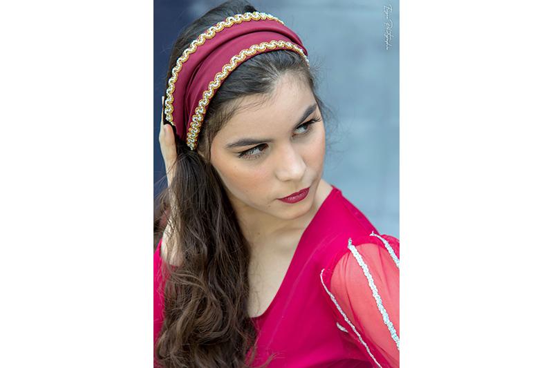bandeau bordeaux made in france accessoire cheveux fait main