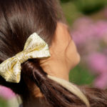 accessoire cheveux noeud dore barrette made in france fait main handmade
