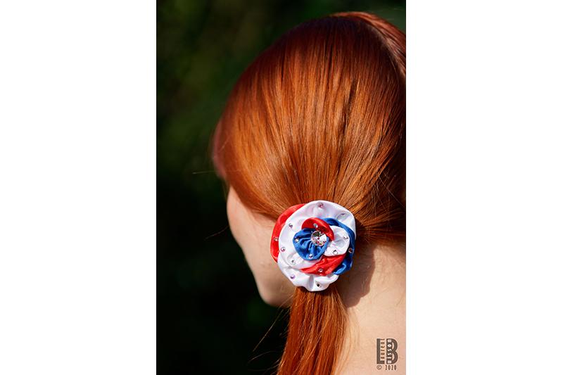 accessoire cheveux coiffure made in france fait main bleu blanc rouge cocarde française