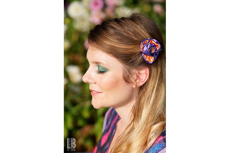 accessoire cheveux fleur made in france barrette