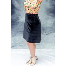 jupe made in france velours noir