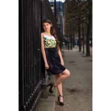 jupe droite velours noir mode femme made in france