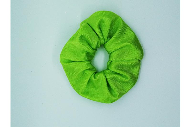 chouchou scrunchie vert pomme made in france fait main