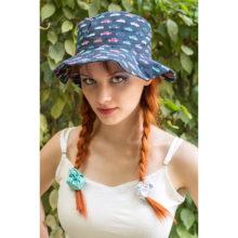 chapeau de soleil bob plage made in france imprime voitures coton bio