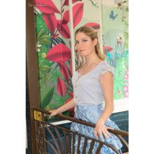 chemisier bleu ciel femme made in france disneybound cendrillon