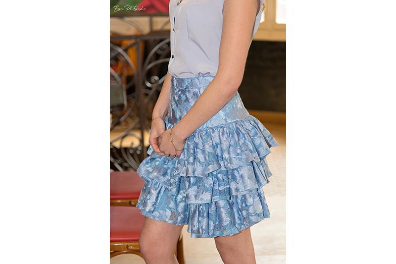 jupe bleu ciel made in france