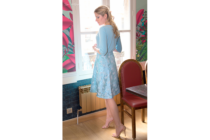 jupe bleu clair pastel made in france cendrillon