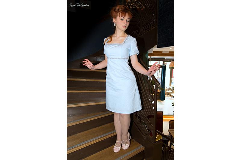 robe bleu ciel étoiles cendrillon disneybound made in france