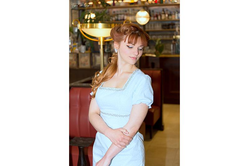 robe made in france bleu ciel étoiles
